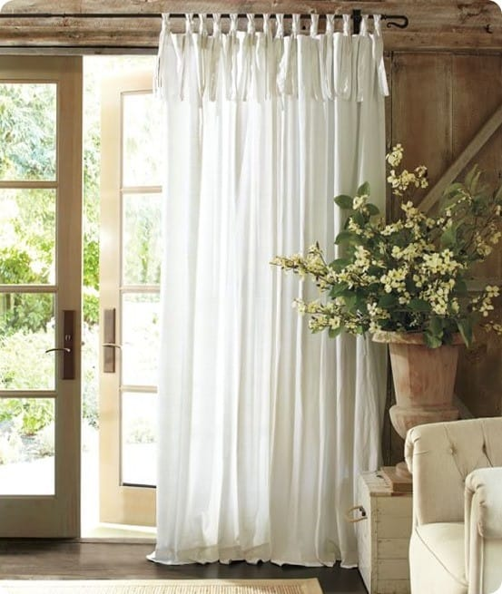 Textured Cotton Tie Drape from Pottery Barn