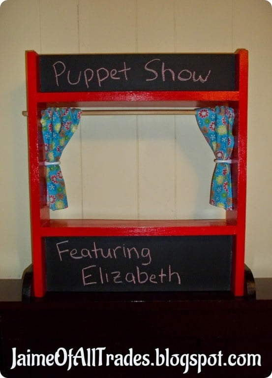 Wood Projects ~ Land of Nod Knock Off Puppet Theatre