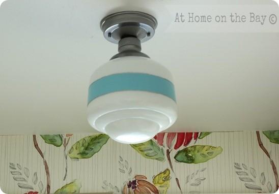 Painted Schoolhouse Light Fixture Knockoffdecor