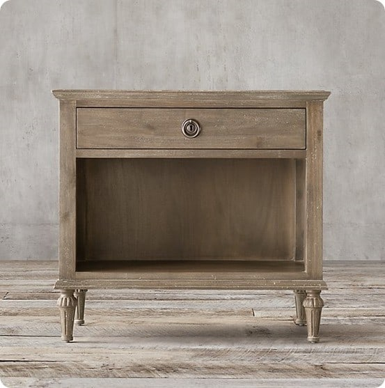 Antiqued Grey Finish from Restoration Hardware