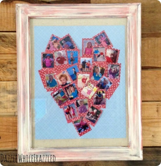 DIY Crafts ~ Make a heart photo collage with family pictures!