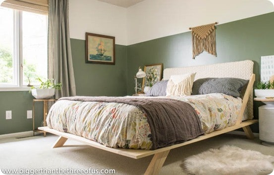 DIY Furniture ~ CB2 Inspired DIY Mid-Century Modern Bed Tutorial