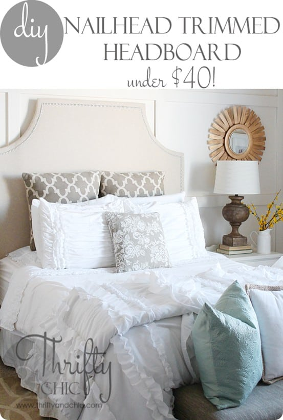 DIY Furniture ~ How to Make an Upholstered Headboard for Under $40