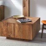 Planked Pallet Wood Coffee Table for $45