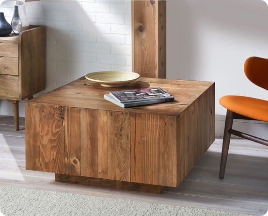 DIY Furniture ~ Make this West Elm knock off coffee table for under $50 using pallet wood!