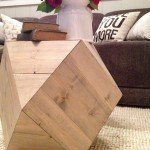 Geometric Faceted Side Table