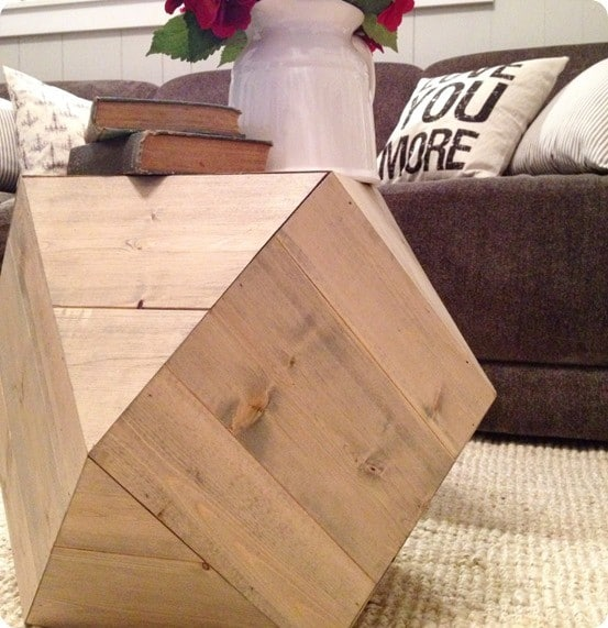 DIY Furniture ~ Urban Outfitters Inspired Geometric Table for $25