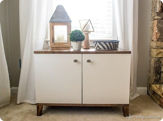 DIY Furniture ~ West Elm Knock Off Media Console