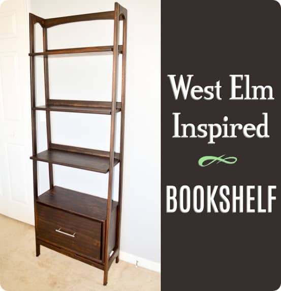 DIY Furniture ~ West Elm Knock Off Mid-Century Bookshelf {Free Woodworking Plans!}