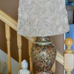 Rosette Fabric Lampshade Makeover