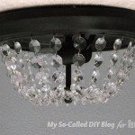 Dome Ceiling Light Makeover with Crystals