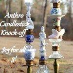 Goodwill Trinket Candlesticks