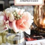 Five-Minute Metallic Gold Striped Vases