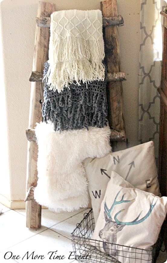 Rustic Ladder Made From Branches Knockoffdecor Com