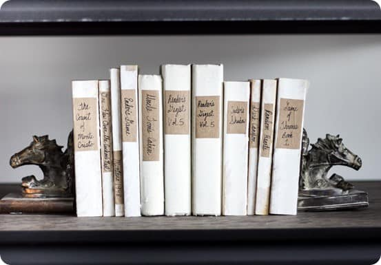 PAINTED Books for a Streamlined Look - KnockOffDecor.com
