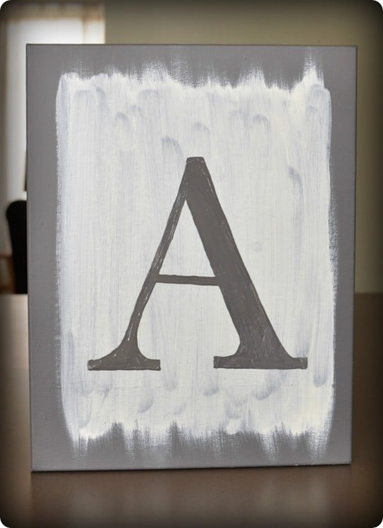 DIY Wall Art ~ Knock off this $199 Pottery Barn inspired letter print for only $12!