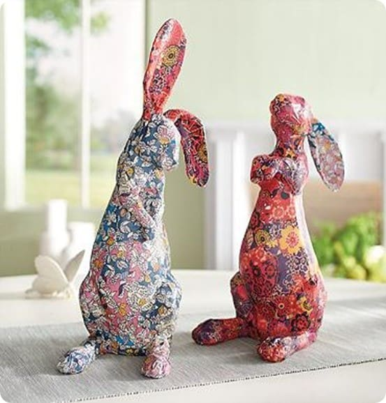 Decoupage Bunny From A Soda Bottle Knockoffdecor Com