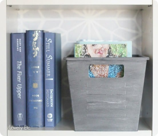 Dollar Store Crafts ~ Make dollar store bins look like vintage metal using paint!