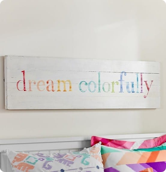 Dream Colorfully Planked Art from PB Teen