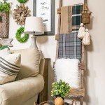Rustic Wood Ladder to Beef Up a Gallery Wall