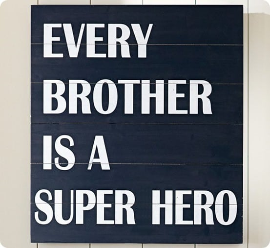 Every Brother is a Superhero Sign from Pottery Barn Kids