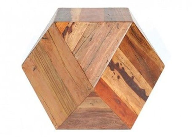 Faceted Woodblock Side Table from Urban Outfitters