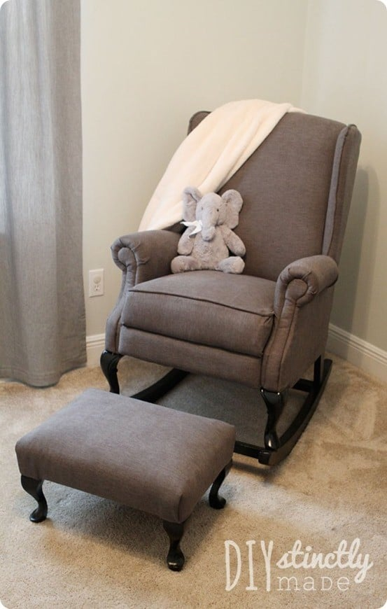 Furniture Refabs ~ Turn A Regular Old Wingback Chairs Into A Rocker!  {Pottery Barn