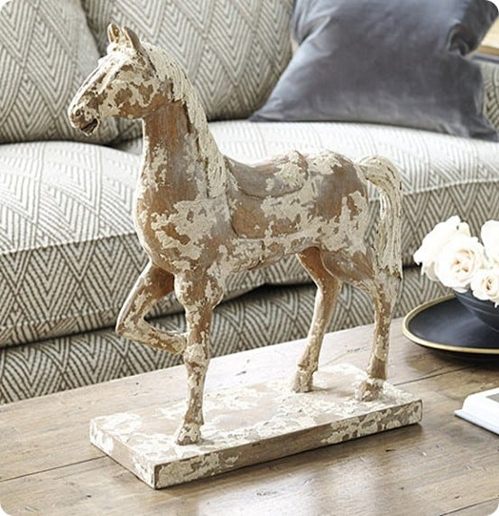 Hand Carved Horse from Ballard Designs