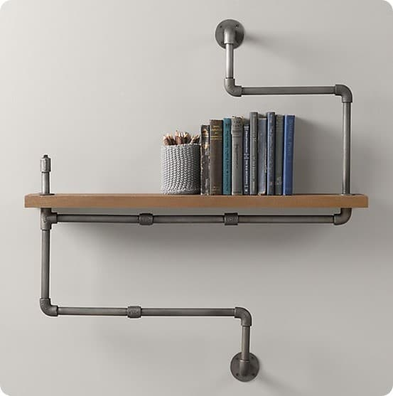 Industrial Pipe Shelf from Restoration Hardware