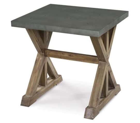 Lybrook Wood Rectangle End Table