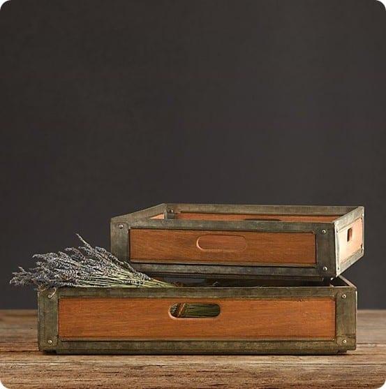 Mailroom Trays from Restoration Hardware