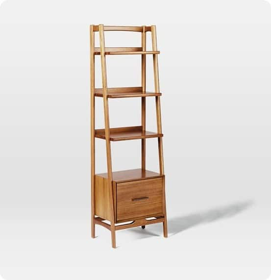 Mid Century Bookshelf from West Elm