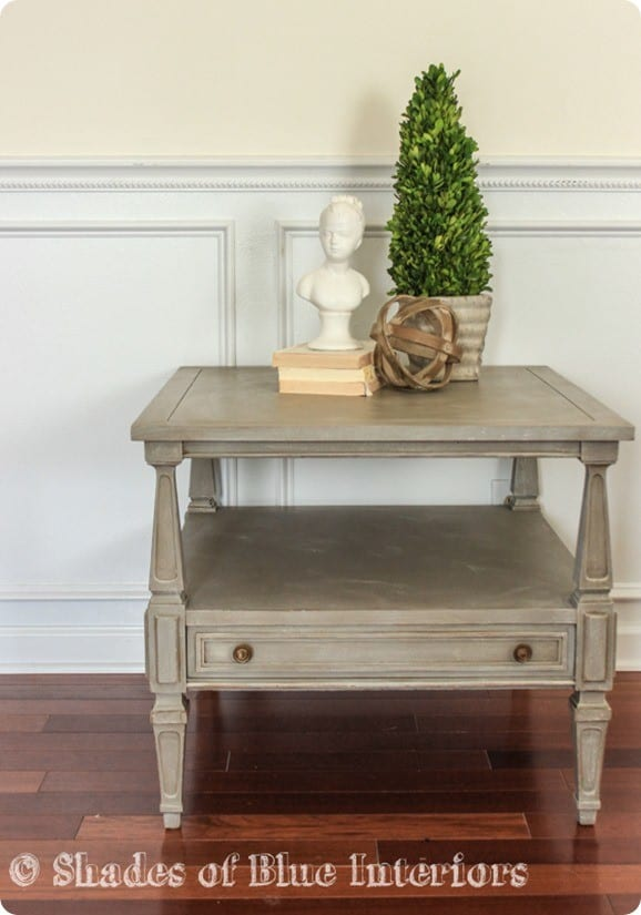Thrift Store Table Makeover in Restoration Hardware Style
