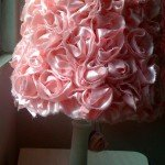 Pink Ruffle Lampshade Makeover