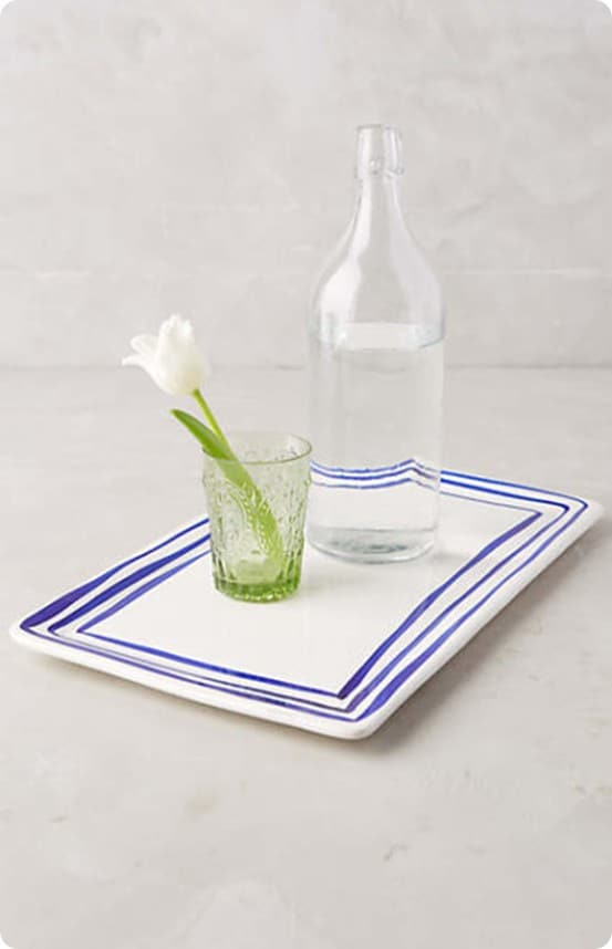 Prussian Stripe Tray from Anthropologie