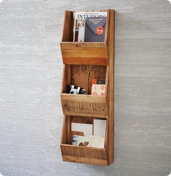 Reclaimed Pine Cubby Shelf from West Elm