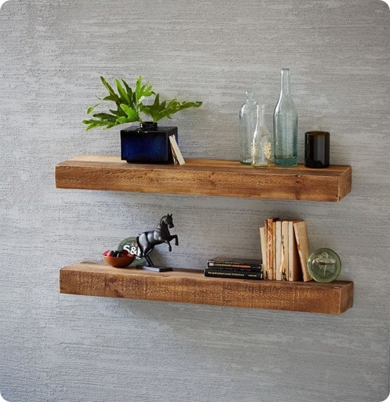 Reclaimed Pine Floating Shelves from West Elm