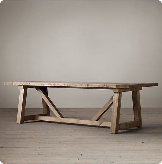 Salvaged Wood Beam Dining Table From Restoration Hardware