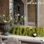 Simple Moss Letters for Spring