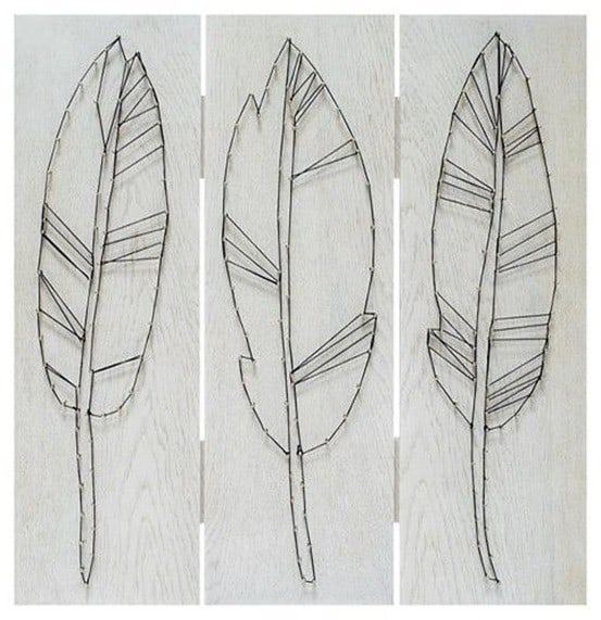 Target Feather String Art