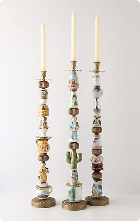 Trinkets and Treasures Candlesticks from Anthropologie