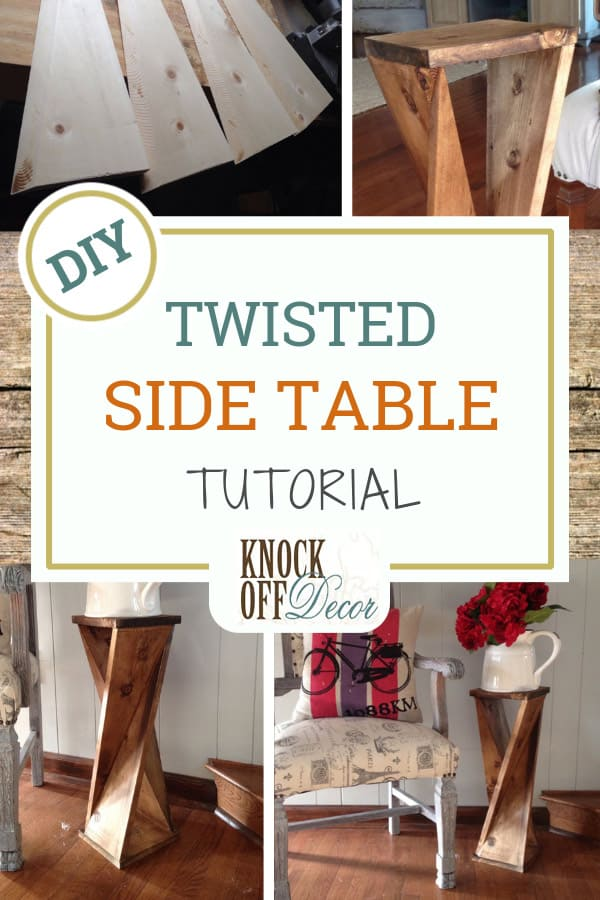 One Board Twisted Side Table For 6