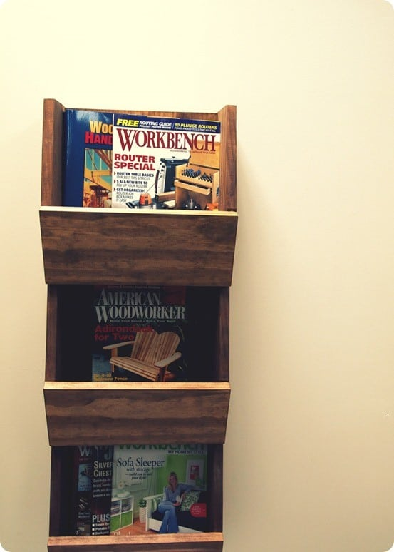 DIY Wood Projects ~ West Elm Knock Off Wall Organizer