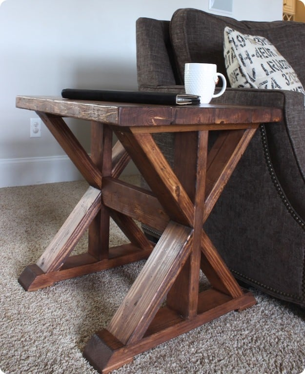 Trestle side table for 20 for Table design for project