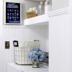 Floating Shelves in the Laundry Room