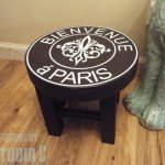 French Stool from Scrap Wood