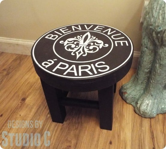 Ballard Designs Knock Off French Stool ~ Easy to build from scrap wood!