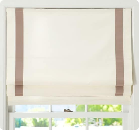 Cordless Roman Shades from Pottery Barn