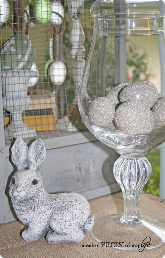 DIY Easter Crafts ~ How to Make Pottery Barn Inspired Glitter Easter Eggs