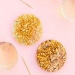 Glitzy Gold Leaf Coasters